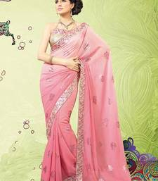Ornate Onion Pink Saree with Blouse shop online