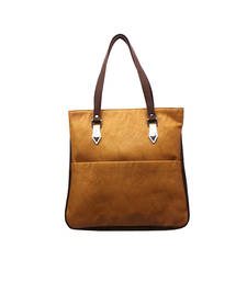 Buy Smart Dual Tone Handbag (Light Brown) handbag online