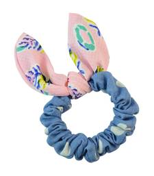 Buy Polka Dot Blue Fabric Hair Rubber Band for Women Other online
