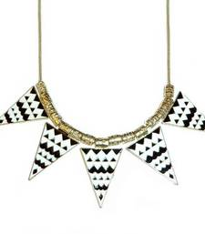 Buy Aztec Print Necklace-Black Necklace online
