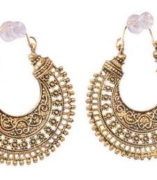 Buy Gold Plated Oxidised Hoop Earring for Women navratri-lehenga-chaniya-choli online