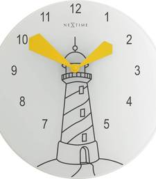 Buy 8808-LIGHT HOUSE Yellow Clock for Kids Teens room wall-clock online