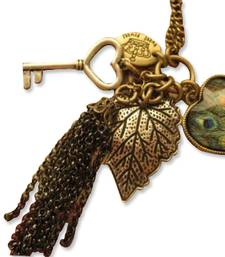 Buy Vintage Long Love Peacock Necklace Necklace online