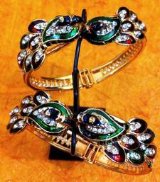 Buy Peacock Collection: Multicolour Peacock Pair of Flexible Bangles j55  bangles-and-bracelet online