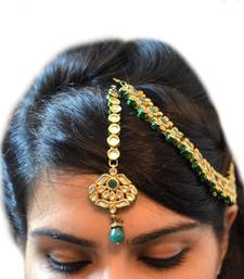 Buy Emerald Green Bridal Accessory maang-tikka online