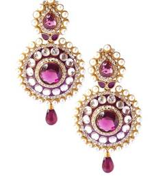 Buy bollywood style Purple Earrings danglers-drop online