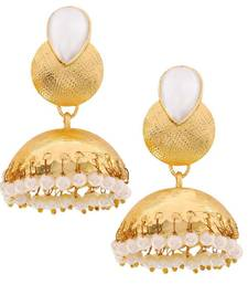 Buy Indian Traditional Jewelry Sensual Ethnic Jhumki Earrings White jhumka online