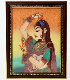 Buy Pretty Princess Bani Thani Gemstone Painting painting online