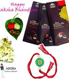 Awesome Super Rakhi Package with chocolates shop online