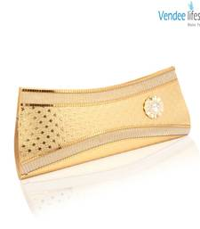 Buy Vendee Lifestyle Golden stylish golwing Clutch (7326) clutch online