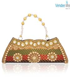 Buy Vendee Lifestyle Beads Traditional Wear Clutch (7336) clutch online