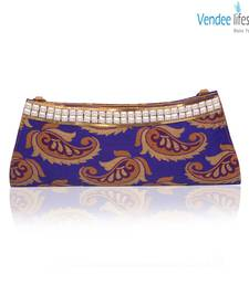 Buy Vendee Lifestyle Blue Indian Party Clutch Handbag (7340)  clutch online