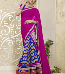 Buy Pink embroidered Artsilk  lehenga-choli lehenga-choli online