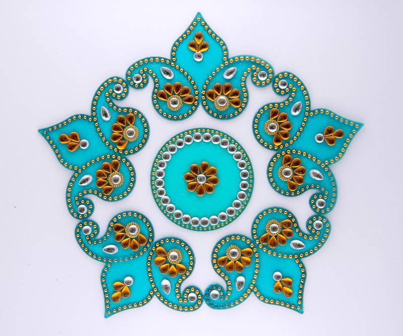 Buy diwali decorations designer acrylic rangoli online for Diwali decoration material