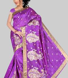 Buy KHICHA SKIRT SAREE - MAGENTA cotton-saree online