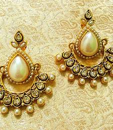 Buy Preety Bollywood Style White Pearl Earrings danglers-drop online