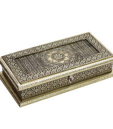 Buy Oxidized Metal Carved Multipurpose Box jewellery-box online