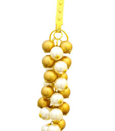 Buy Ethnic Golden Pearl Key Chain Hanging key-chain online