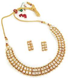 Buy Beautifully crafted golden  necklace set mangalsutra online