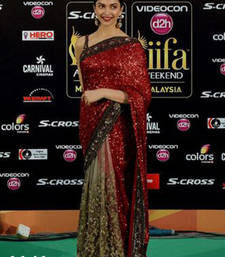 Buy multicolor embroidered georgette saree with blouse deepika-padukone-saree online