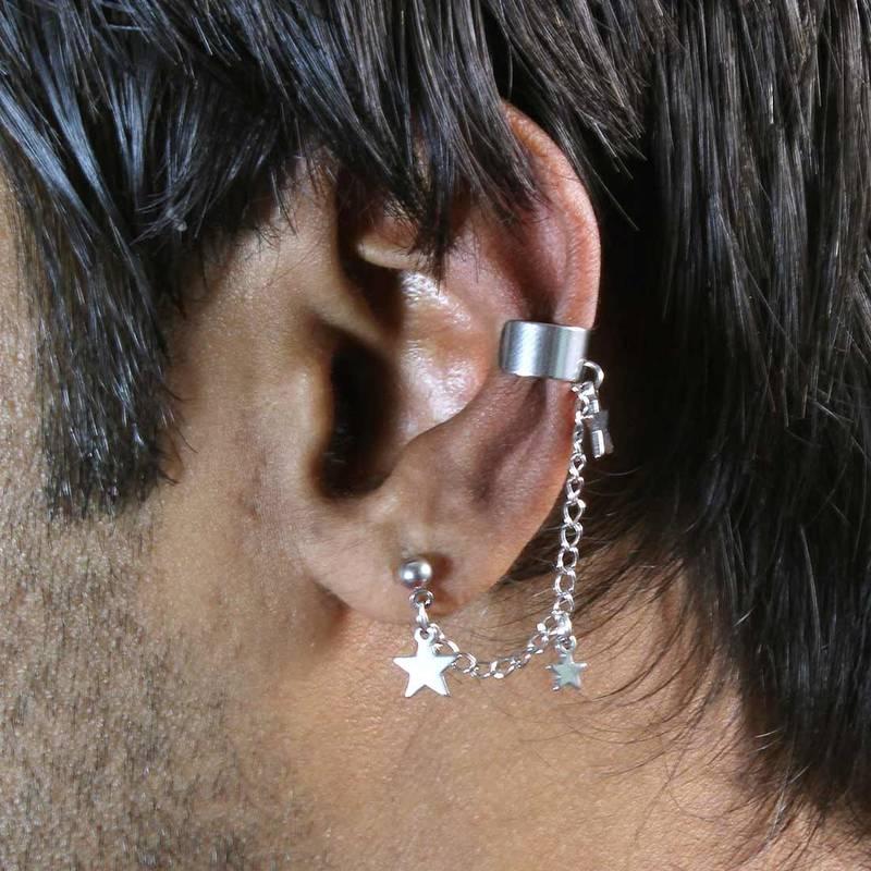 Buy Stars Single Chain Ear Cuff for Men