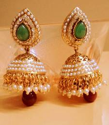 Buy green red elegant jhumki Earring online