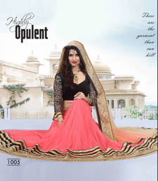 Buy New Pink And Black Lehenga Choli navratri-lehenga-chaniya-choli online