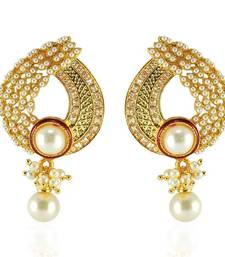 Buy Latest in trend Gold plated american diamond earring danglers-drop online