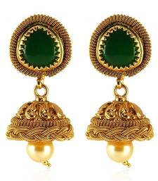 Buy Fabulous Gold plated Antique Earring jhumka online