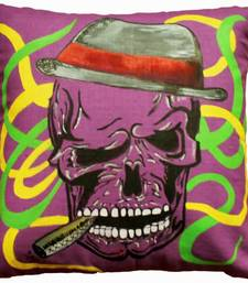 Buy Smirky Skull Cushio Cover pillow-cover online