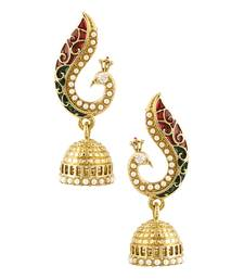 Buy Peacock Inspired Pair Of Jhumki Earrings jhumka online