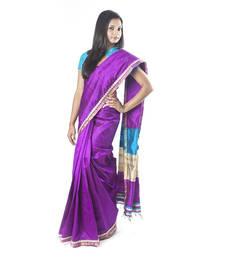 Buy Purple Raw Silk Saree silk-saree online