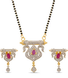 Buy Luxor Lovely American Diamond Mangalsutra Mother's Day Gift for women MS-1274 mangalsutra online