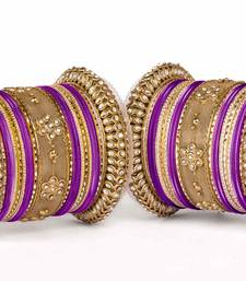 Buy Velvet-like texture bangle set for two hands bangles-and-bracelet online