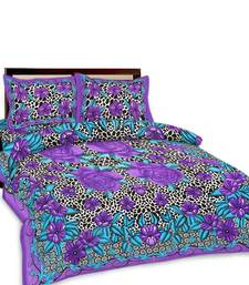 Buy Multi-Color Floral Printed Double Bedsheet n Pillow Covers 255 bed-sheet online