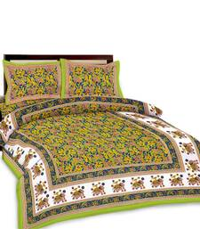 Buy Multi-Color Printed Double Bedsheet n Pillow Covers 385 bed-sheet online