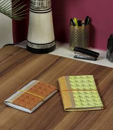 Buy Block printed Hand Made Paper Diary set stationery online