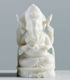 Buy Five Musical Ganesh statue made in White Marble other-home-accessory online