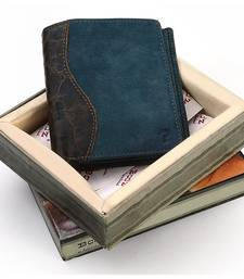 Buy Gents Italian Designer Stylish Blue Leather Wallet Deepawali Gift 143 Bag online