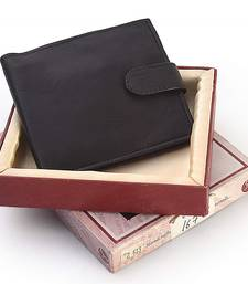 Buy Gents Stylish Design Genuine Leather Black Wallet Diwali Special Gift 182 Bag online