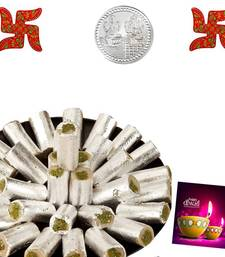 Buy Pista Roll 400 gms With wooden Swastik diwali-sweet online