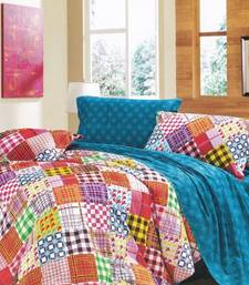 Buy Checkered Printed Luxury Flat Bedsheet from Just Linen bed-sheet online