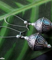 Buy Long_Hook_Silver_Etched_Dumru danglers-drop online