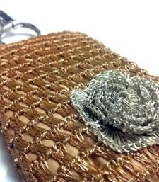 Buy Smart Phone Crochet Covers | Golden Zari | Silver Zari Flower phone-case online