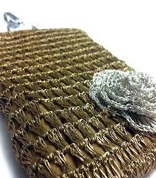 Buy Smart Phone Crochet Covers | Copper Zari | Silver Zari Flower phone-case online