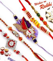 All time Favourite set of 05 Premium Rakhis shop online