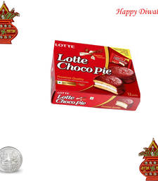 Buy Lotte Choco pie chocolate with wooden kalash diwali-chocolate online