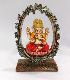 Buy Arch Ganesha Sitting Resin M aterial Multicolor religious-item online