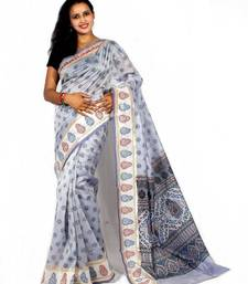 Buy Chanderi fancy printed Aanchal Border saree chanderi-saree online