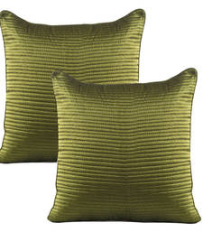 Buy Green Dupion Silk Quilted Cushion Cover Set pillow-cover online